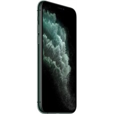 Apple iPhone 11 Pro Max with FaceTime - 256GB, 4GB RAM, 4G LTE, Midnight Green, Single SIM & E-SIM ضمان وكيل