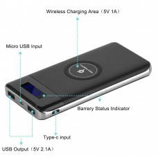 Qi Power Bank Charger 10000mAh and Wireless Charger