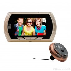 4.3 Inch Smart Digital Door Viewer Camera Door Eye Video Record Peephole Viewers IR Night Vision PIR Motion