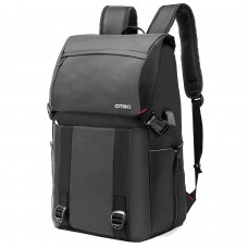 DTBG D3071 17.3 Inch Laptop Backpack Water Resistant with USB Charging Port (Black)