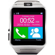 GV08 Bluetooth Smart Watch Smartwatch Mobile Phone Watch for iPhone and Android (Black)