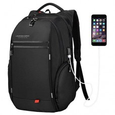 DTBG D8195 15.6 Inch Laptop Backpack Water Resistant with USB Charging Port (Black)